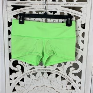 Lululemon Boogie shorts bright green